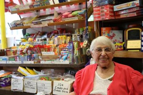 Ethel Weiss in Irving's Toy & Card Shop in 2013.